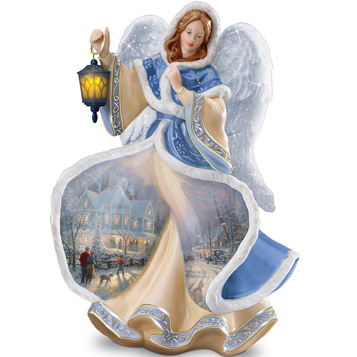 Festive Holiday angel figurines
