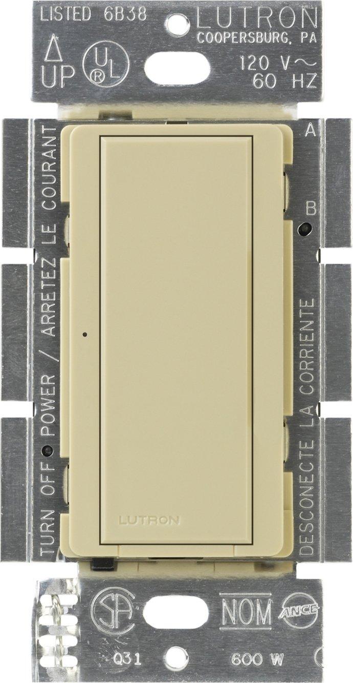 Lutron MA-S8AM-IV Maestro Digital Switch Multi-location/Single Pole, Ivory