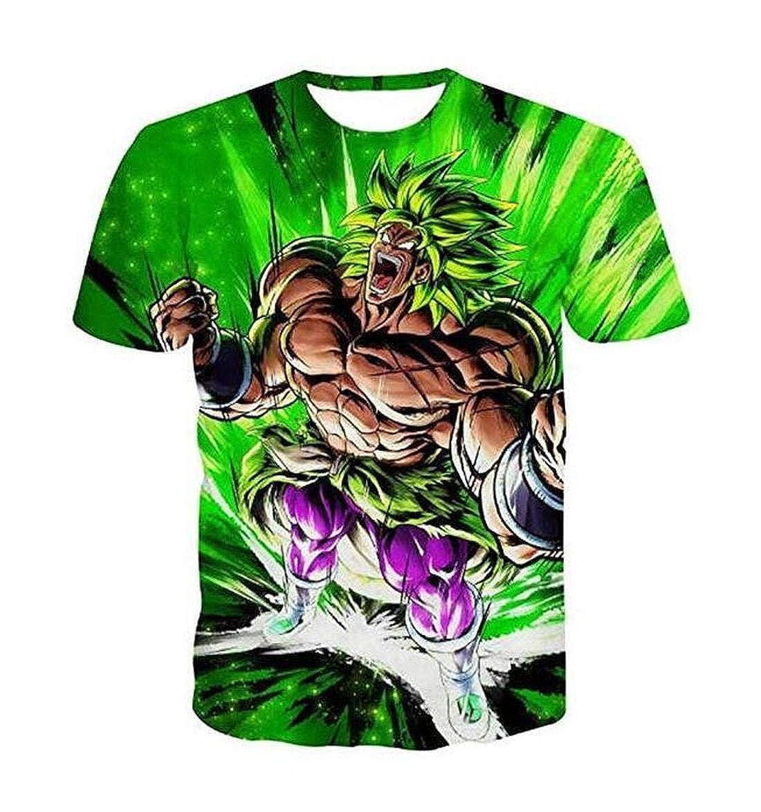 Anime ONE Piece Luffy Print Casual 3D T-Shirt Dragon Ball Z Short Sleeve Tee Tops /& KID1-4XL