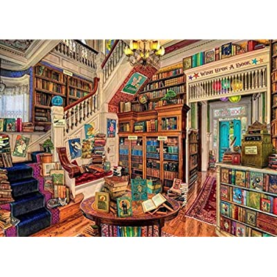 Puzzle 1000 Piece Jigsaw Puzzle for Adults,Bzdthh,The Fantasy Bookshop,Every Piece is Unique,Pieces Fit Together Perfectly: Toys & Games