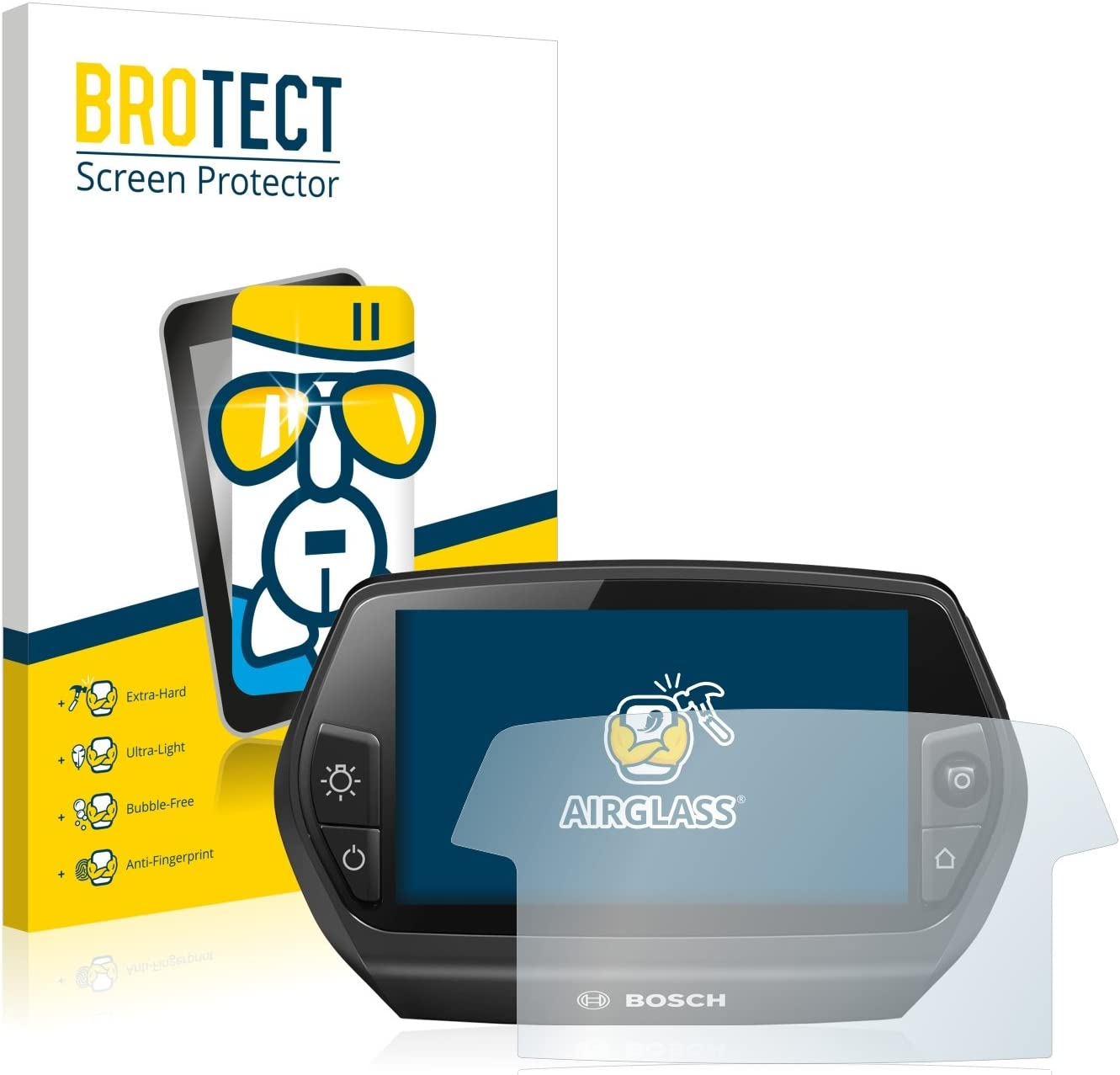 Ultra-transparent Anti-Fingerprint extrem Kratzfest 3 St/ück - AirGlass BROTECT Panzerglas Schutzfolie kompatibel mit Bosch Nyon 2020