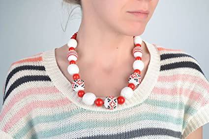 Collar Tejido A Crochet De Hilos De Algodon Artesanal De Estilo