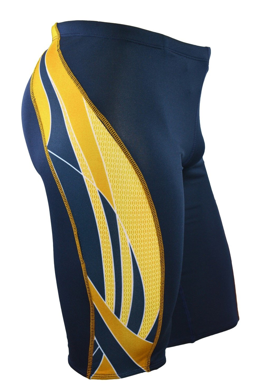 Adoretex Boy's/Men's Side Wings Swim Jammer Swimsuit (MJ009) - Navy/Gold - 30 by Adoretex