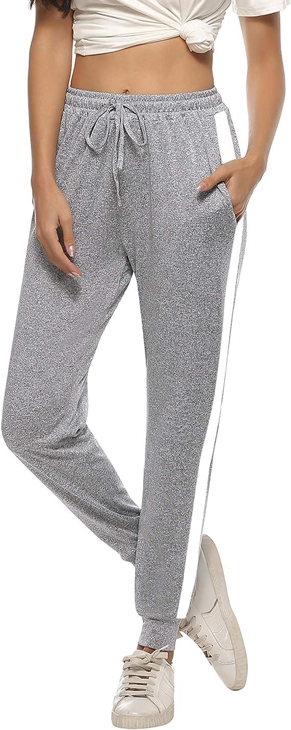 Aibrou Pantalones Deportivo Mujer Algodón Largos para Yoga Fitness Jogger Casual: Amazon.es: Ropa y accesorios