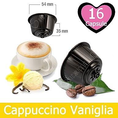 16 Capsulas Cappuccino Sabor Vainilla Compatibles Nescafè Dolce Gusto - Café Kickkick