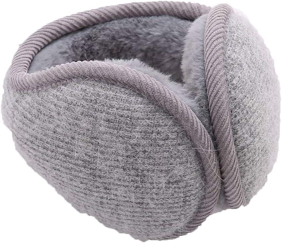 Unisex Foldable Ear Warmer Earmuffs for Men Women Winter Accessory Outdoor Adjustable Wrap Behind The Head Style