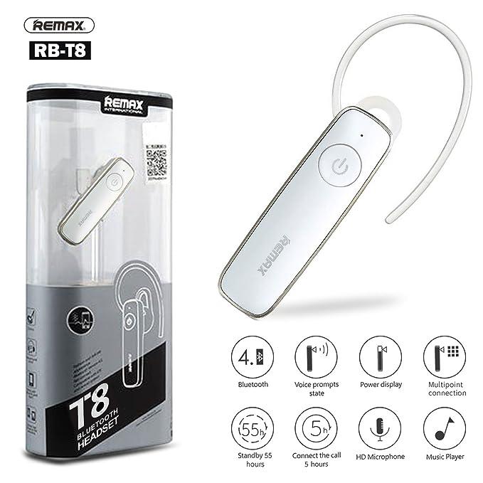 Original Remax® rb-t8 HD voz auricular Bluetooth inalámbrico auricular HD clara comunicación más