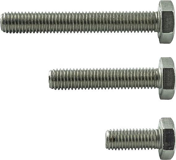 Vis /à t/ête cylindrique inoxydable AGBERG Lot de 10 vis cylindriques M10 x 80 mm avec six pans creux DIN 912 // ISO 4762 Acier inoxydable VA A2 V2A