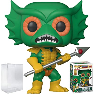 Funko Pop! Television: Masters of the Universe - Mer-man Vinyl Figure (Bundled with Pop BOX PROTECTOR CASE): Toys & Games