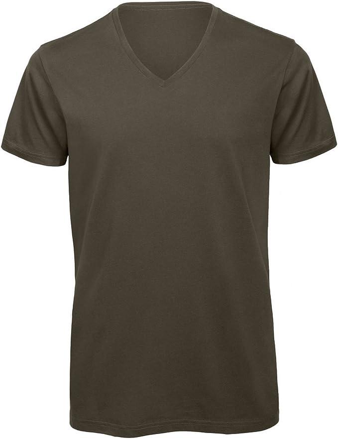 B&C - Camiseta cuello pico V Algodón orgánico Modelo Favourite ...