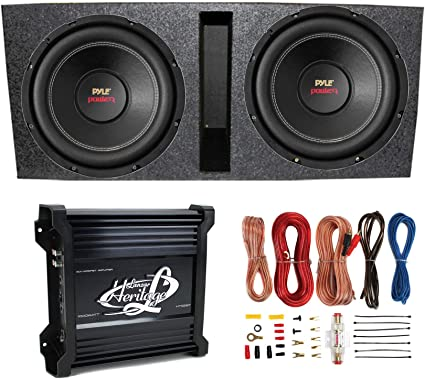 subs and amp wiring amazon com 2  pyle 15  plpw15d subwoofers vented box lanzar 2  amazon com 2  pyle 15  plpw15d