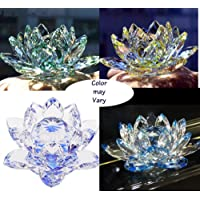 Paradigm Pictures Feng Shui Crystal Lotus (1 Piece) for Positive Energy and Good Luck (Assorted Colors)