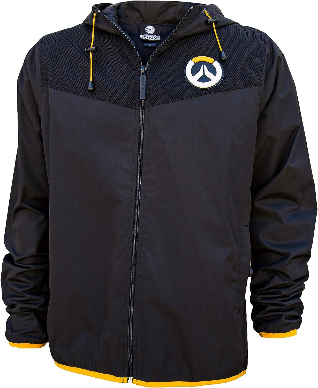 JINX Overwatch Logo Zip-Up Windbreaker Jacket