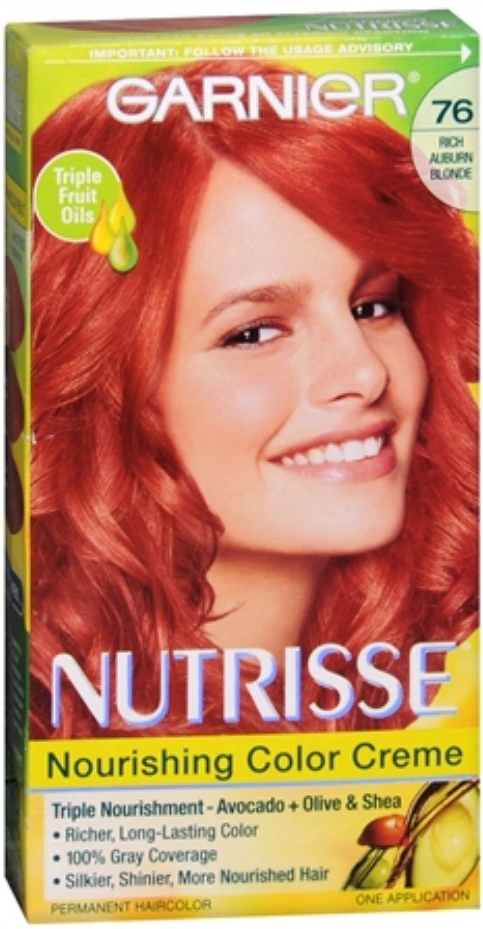 Garnier Nutrisse Haircolor - 76 Hot Tamale (Rich Auburn Blonde) 1 Each (Pack of 4)