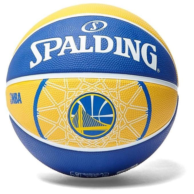 Spalding NBA Team Golden State Baloncesto Amarillo, Azul/Blanco ...