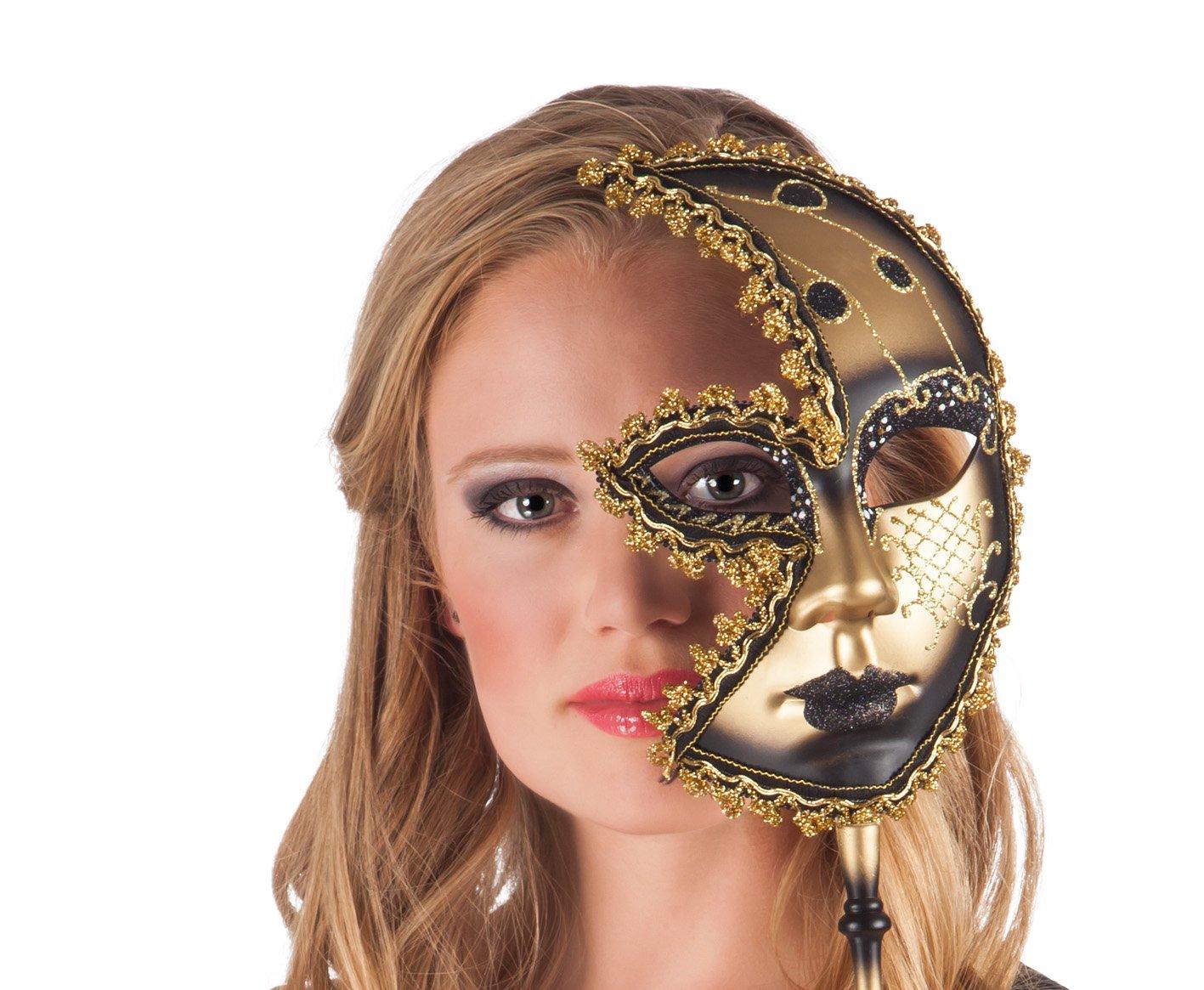 Boland 00349 Maske Venezia Luna mit Stab