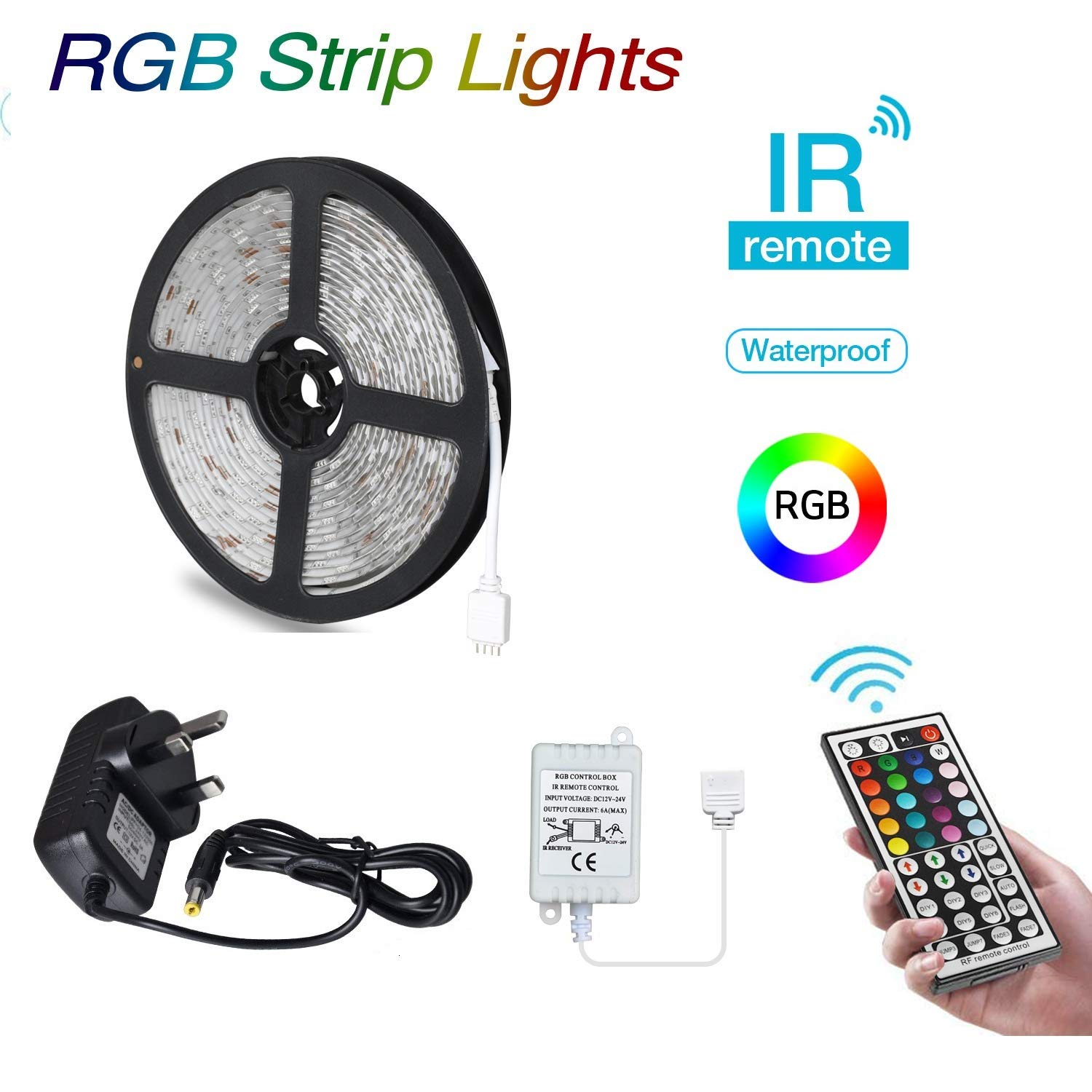 BRTLX LED TV Backlight Strip Lighting Kits 4 x 50cm for HDTV Home Theater Accent Lighting USB Powered RGB 5050 SMD Multi Colour with 24 Key Remote Control