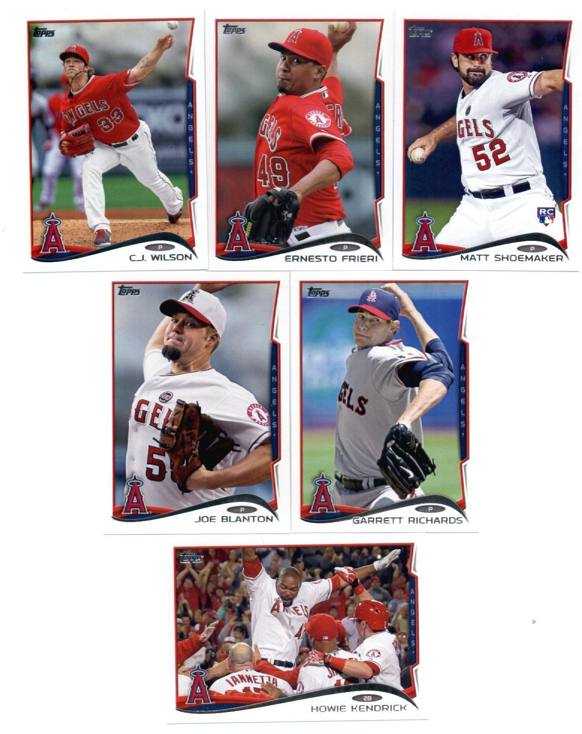 Galleon 2014 Topps Los Angeles Angels Complete Series 1 2