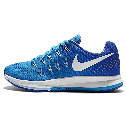brand new bcfe0 2fd9d Nike Air Zoom Pegasus 33 Blue Glow White Racer Blue Blue Cap Womens Running  Shoes  Amazon.in  Shoes   Handbags