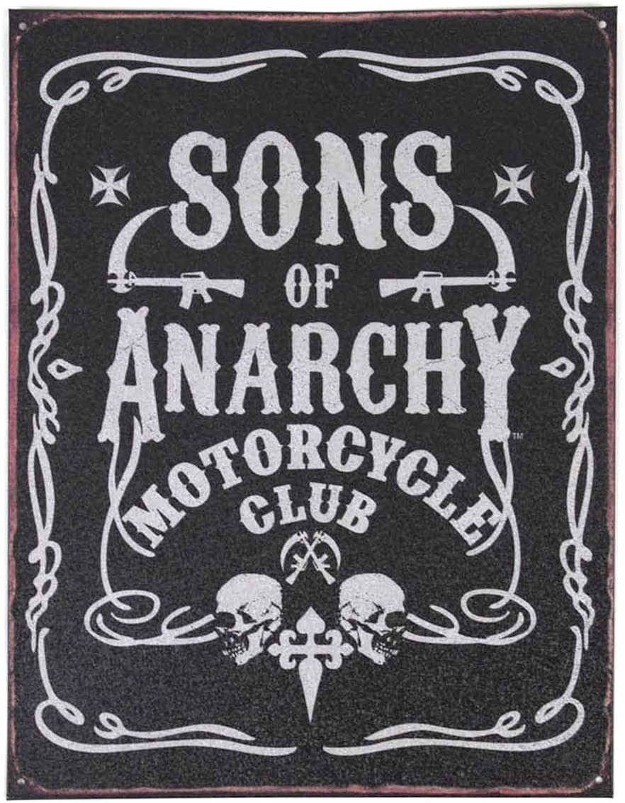Toy Zany Sons of Anarchy Cartel de Chapa decoración de la Pared: Amazon.es: Juguetes y juegos