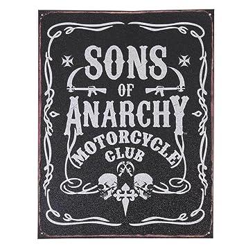 Toy Zany Sons of Anarchy Cartel de Chapa decoración de la ...