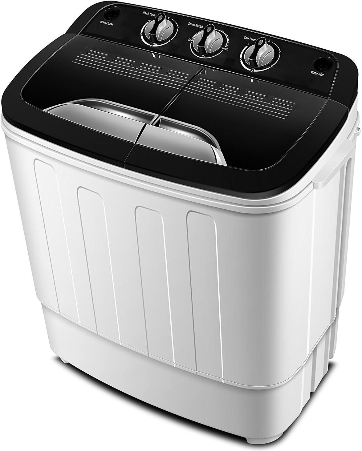 Lavadora portátil TG23 - lavadora de la bañera gemela con Ciclo de Lavado y Centrifugado de ThinkGizmos (marca registrada protegida)
