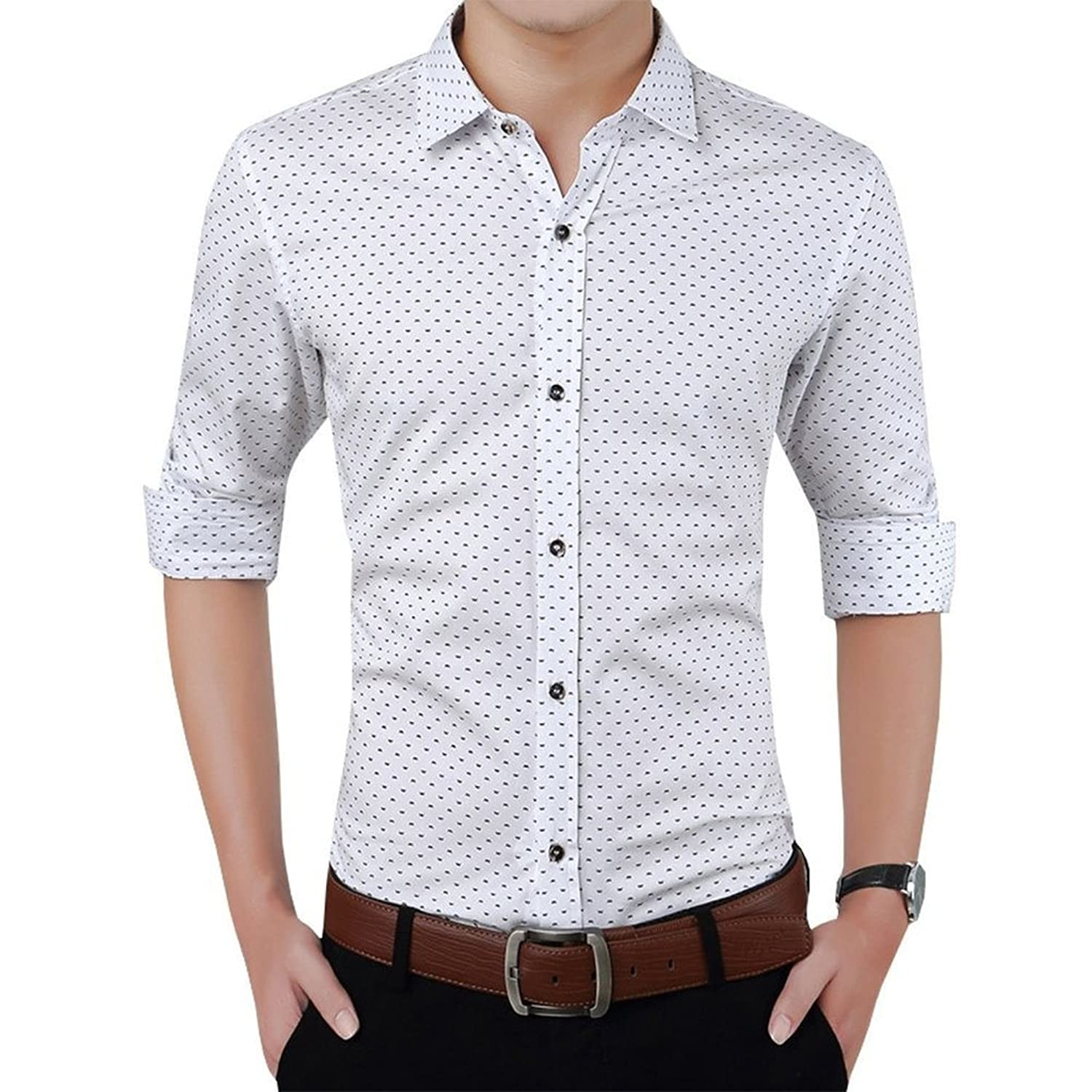 Romano Men's Full Sleeve Casual White Shirt: Amazon.in: Clothing ...