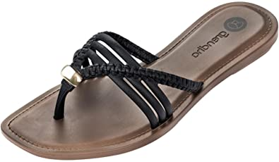 d0a1fdbbb76350 Grendha Women s Gypsy Flip Flops Multi Strap Slight Heel  Amazon.co ...