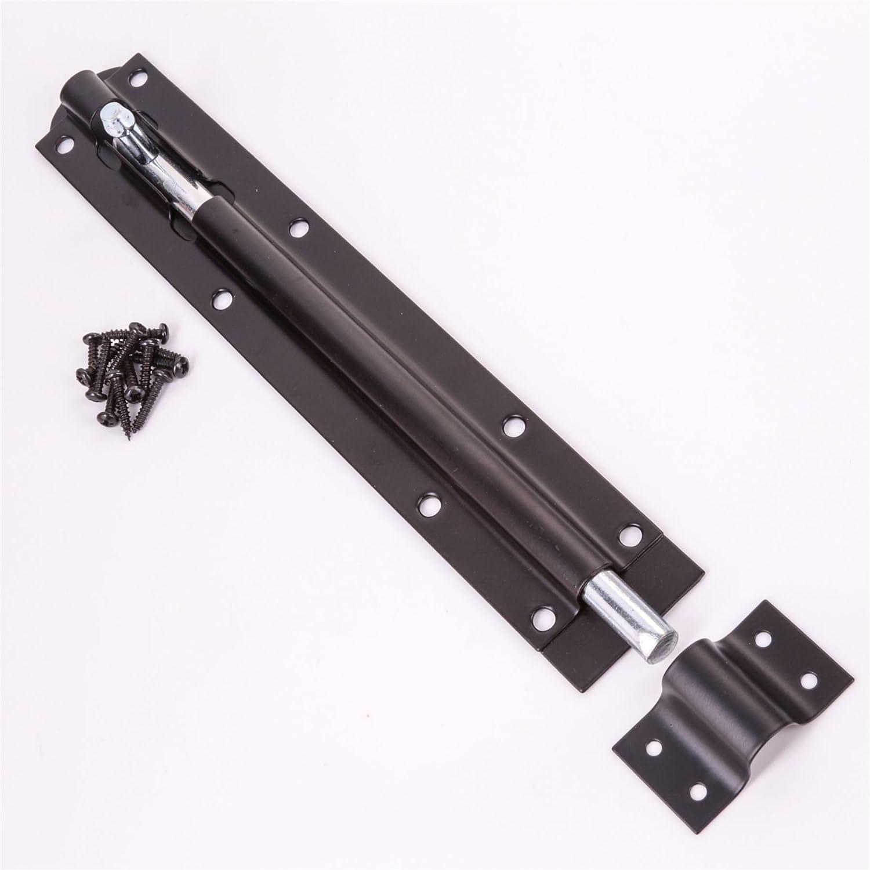 Black Tower Slide 6 Inch Bolt Heavy Duty Steel Garden Gate Shed Latch Lock