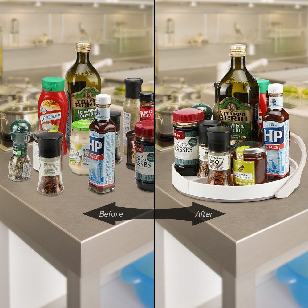 Funria Lazy Susan Turntable mit Backstop Küche Organizer 360-Grad ...
