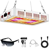 LeFreshinsoft 1000 Watt LED Grow Light for Indoor Plants Full Spectrum with UV Plant Lights Grow Lamp Dual Switch for Indoor