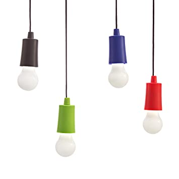 Rockland Bright Pull Cord LED Light U2013 Multifunction Portable Hanging  Camping Lanternu2013 Indoor/Outdoor
