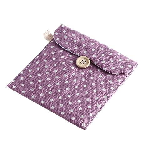OUNONA Bolsa organizador para señoras Bolsa de menstruación de lino para mujeres Chica (púrpura)