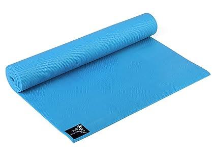 Yogistar Yogamatte Basic Esterilla de Yoga, Unisex, Azul (Türkis), 183
