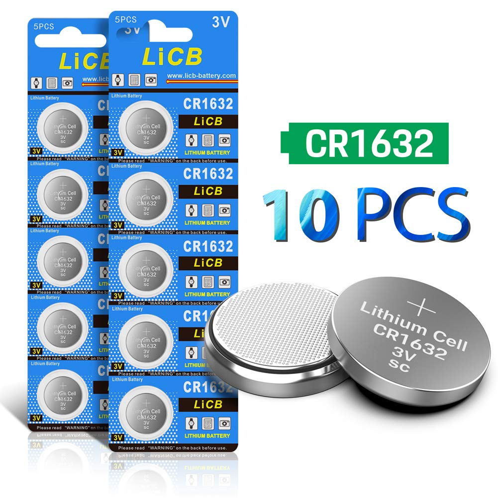 LiCB 10 Pack CR1632 3V Lithium Battery CR 1632