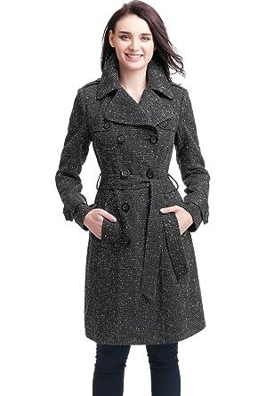 773af554f BGSD Women's Norah Wool Blend Trench Coat (Regular & Plus Size)