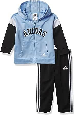adidas Baby Boys' V Hooded JKT Tricot Set