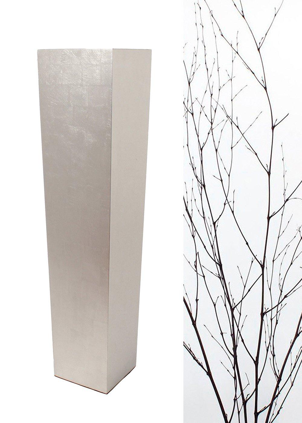 Green Floral Crafts 36'' Tapered Tall Floor Vase - All Silverleaf Vase& DIY Branches Kit