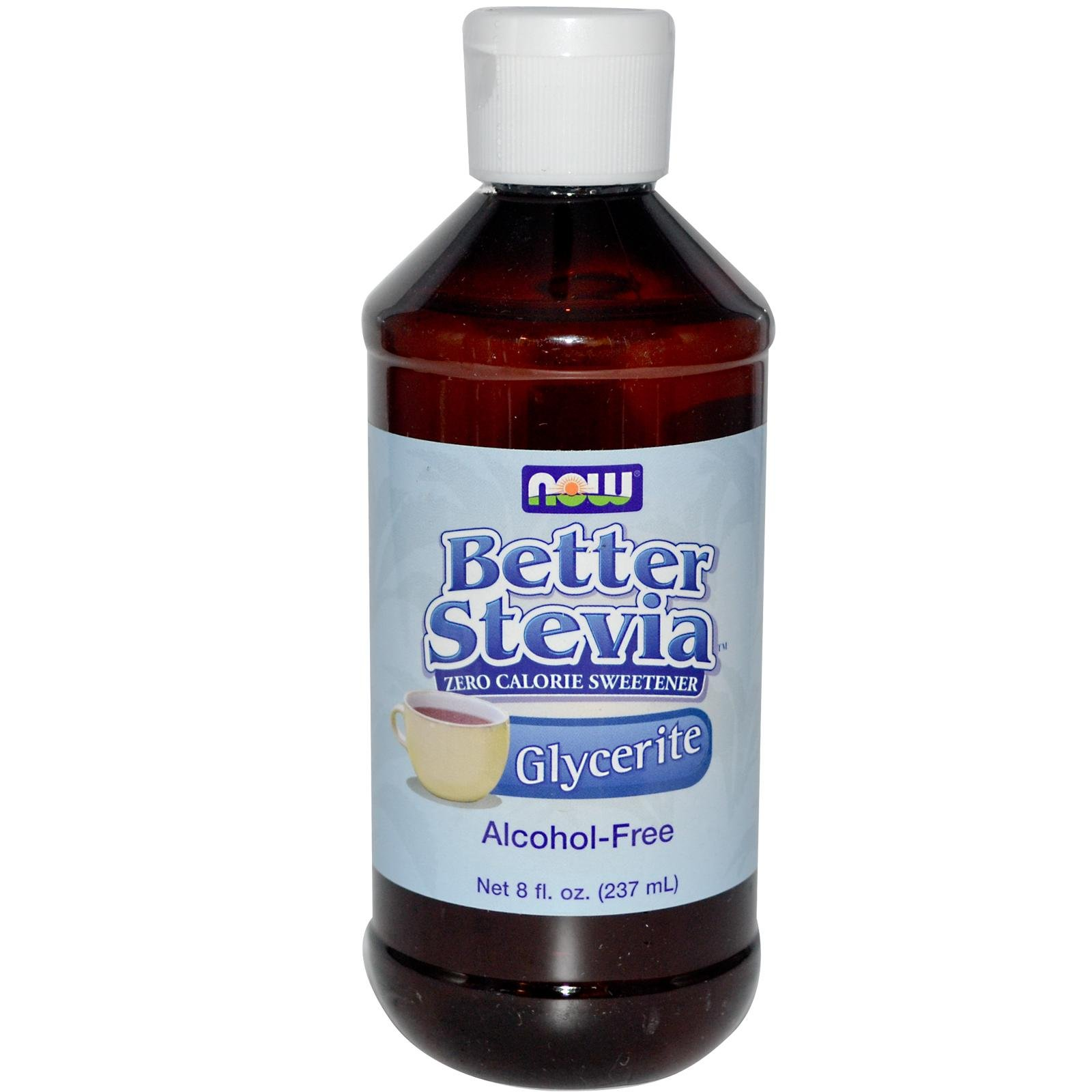 BetterStevia, Glycerite, Alcohol-Free, 8 fl oz (237 ml) by Now Foods