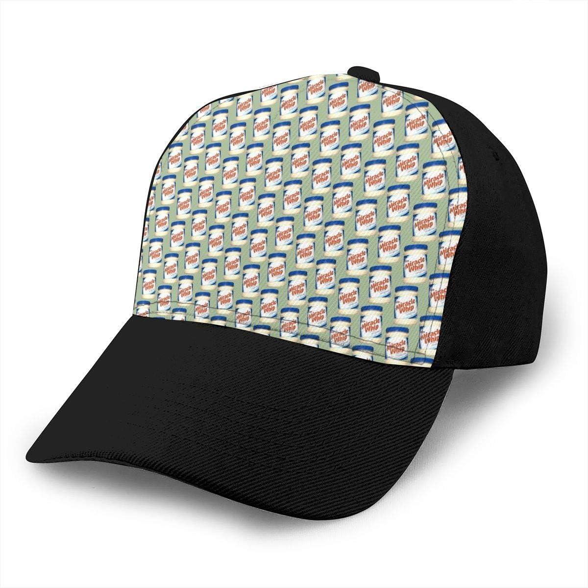 XIKEWL Kraft Miracle Whip Unisex Adjustable Baseball Cap Fashion Hip Hop Caps Dad Hat Black