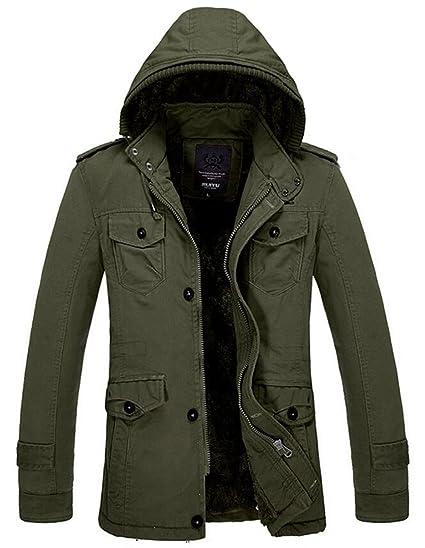 SZAWSL Herren Mantel Parka Jacke Outwear Oberbekleidung Warm Wintermantel Winterparka Winterjacke Steppjacke mit Kaputze Übergangsjacke Outerwear