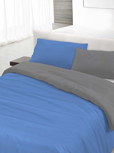 Copripiumino 250 200.Italian Bed Linen Parure Copripiumino Avorio Grigio Matrimoniale