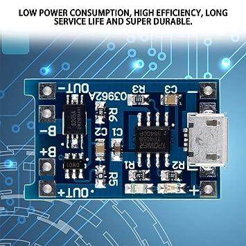 Prim345ownin 5 V Micro USB 1 A 18650 batería de Litio ...