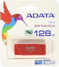 ADATA AUV330-128G-RRD Memoria USB 3.1, 128GB, color Rojo