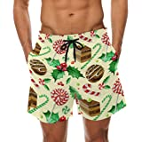 7105e11c5c Bennigiry Men's Cake Chevron Surf Swim Trunks Quick Dry Beach Pants Board  Shorts