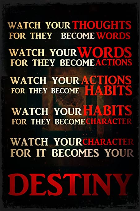 Keen Watch Your Thoughts Words Actions Habits Character Destiny Classroom  Wall Poster Print|12 X 18 in Poster|KCP38