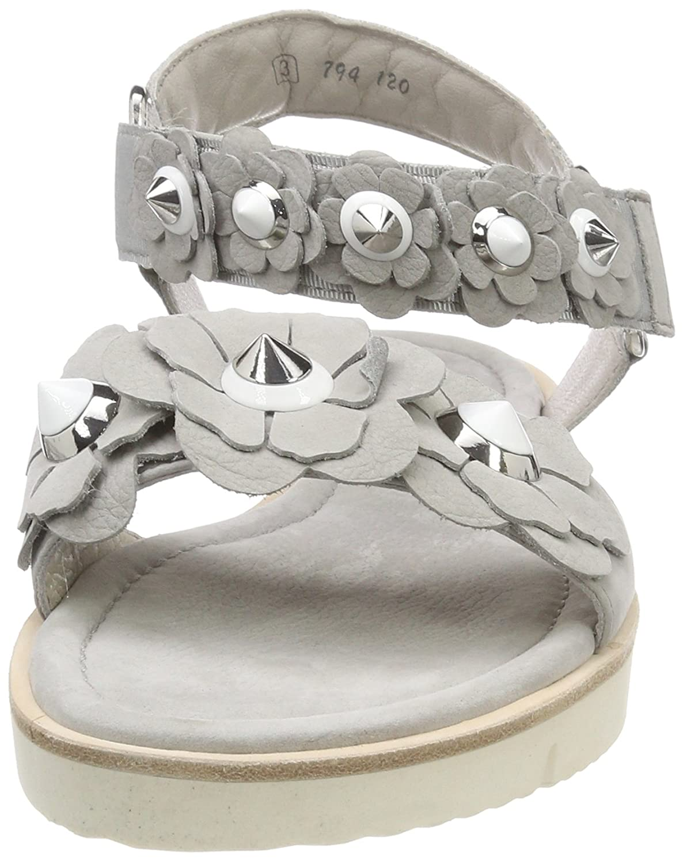 Kennel und Schmenger Damen Sohle Elle Sandalen, Grau (Alu Silver/Weiß Sohle Damen Weiß) 823b0d