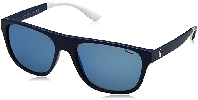 Ralph Lauren POLO 0PH4131 Gafas de sol, Matte Navy Blue, 57 ...