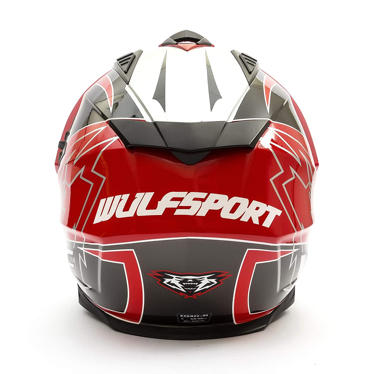 Wulfsport 2019 Prima-X Dual Sport Adventure Enduro Adult Helmet Red Small Dirt//Pit Bikes Road Legal TPR Shell ECE 22 05 Approved