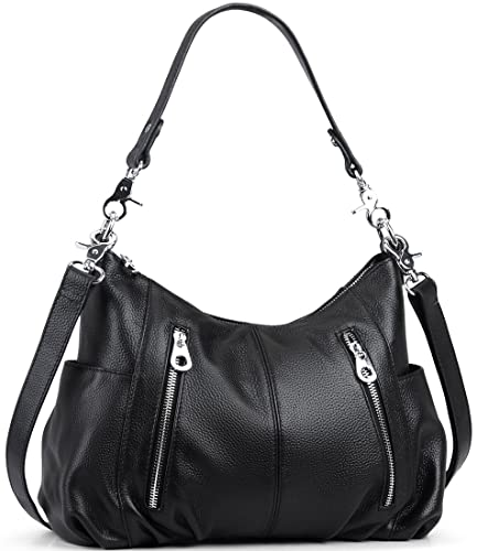647f0c2e8d073 Amazon.com: Heshe Women's Leather Shoulder Handbags Cross Body Bags Hobo Totes  Top Handle Bag Satchel and Purse for Ladies (Black): Shoes